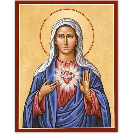 Immaculate Heart Icon Plaque 8x10