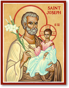 St Joseph Icon Plaque