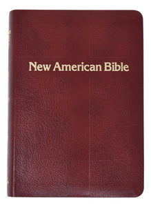 New American Bible Personal Size Gift Edition Burgundy Leather