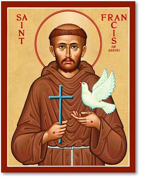 St Francis of Assisi Icon Plaque