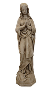 "26"" Immaculate Conception Concrete Garden Statue Umbre Finish"