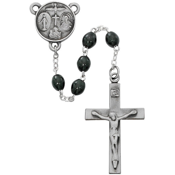 Black Wood Lord's Prayer Rosary