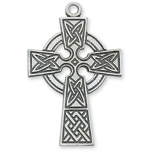 Large Celtic Cross SS Necklace