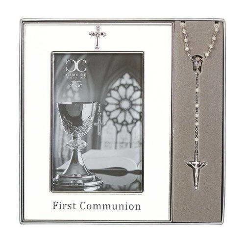 First Communion 4x6 Frame & Rosary