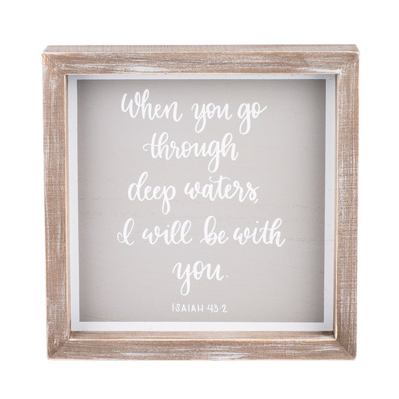 8x8 I Will Be With You Framed Board