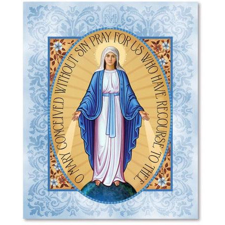 Miraculous Medal Icon Plaque 11x14