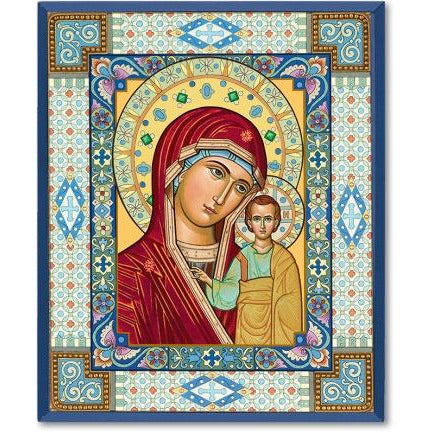 Ornamental Mary Icon Plaque 4x6