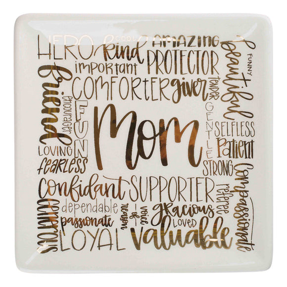5x5 Mom Affirmation Trinket Tray