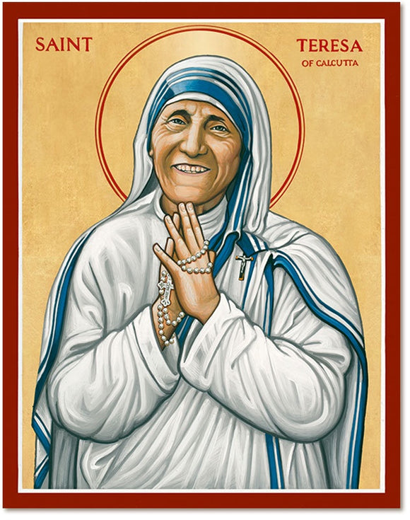 St Teresa of Calcutta Icon Plaque