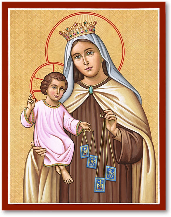 Our Lady of Mt Carmel Icon Plaque