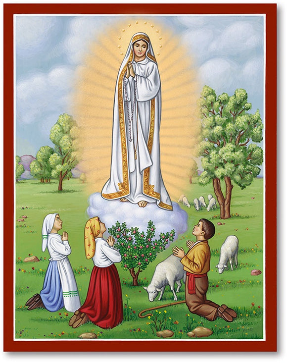 Our Lady of Fatima Icon Plaque
