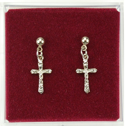 Silver Crucifix Earrings
