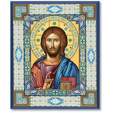 Ornamental Christ Icon Plaque