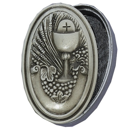 Pewter Communion Rosary Box