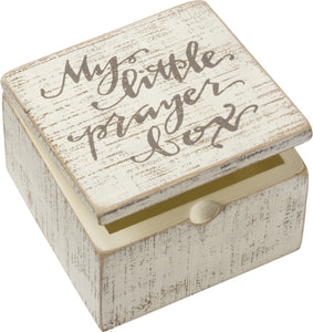 My Little Prayer Hinged Slat Box