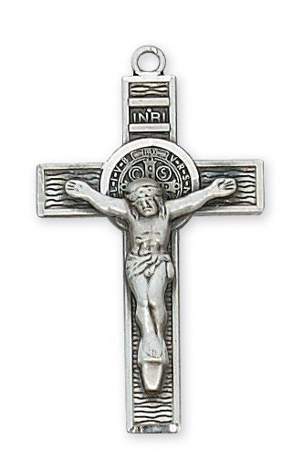 St Benedict SS Crucifix Necklace