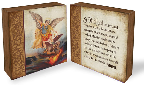 Saint Michael Prayer Block