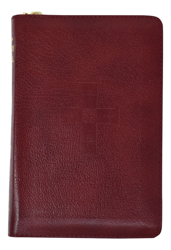 Burgundy Zippered Sunday Missal Complete Edition