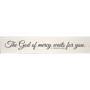 God of Mercy St Therese of Lisieux Quote Plaque