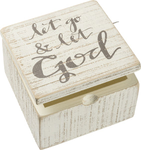 Let God Slat Box Sign Box