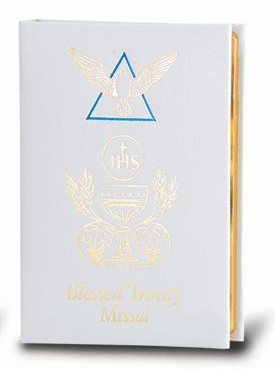 White Blessed Trinity Missal Book