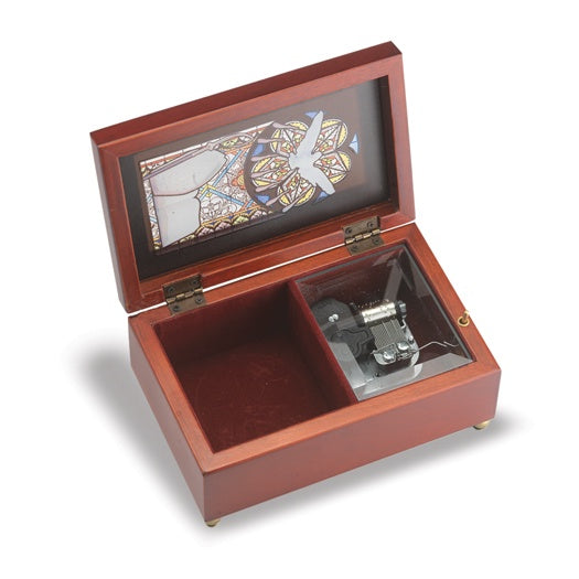 Mahogany Confirmation Music Box