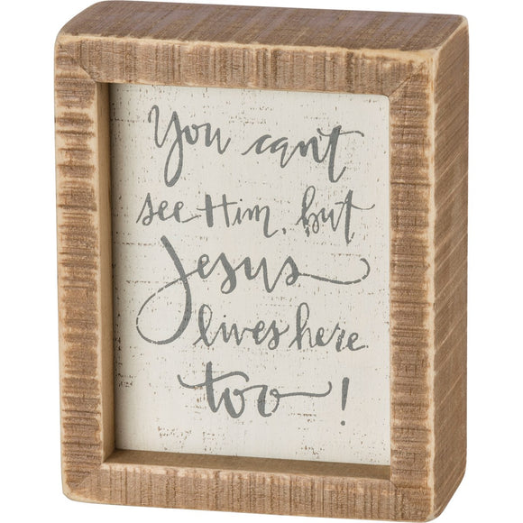 Jesus Lives Here Inset Box Sign