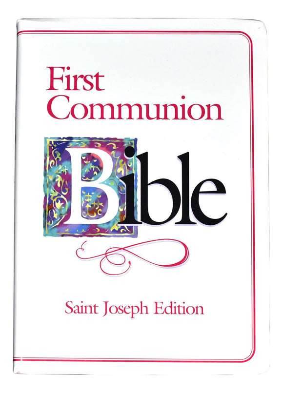 First Communion Bible Pink Edge