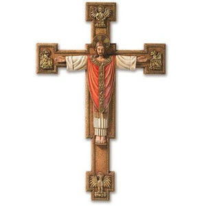 "12.5"" Christ The King Wall Crucifix"