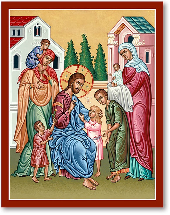 Christ and the Children Icon Plaque