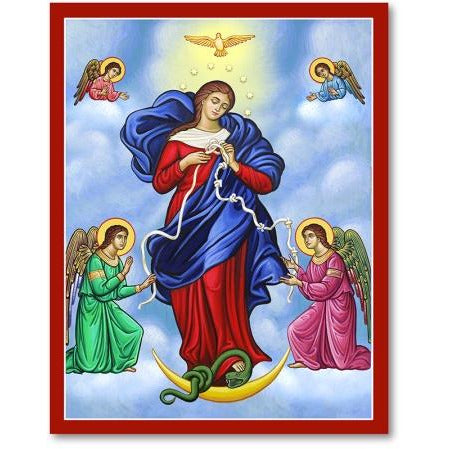 Mary Untier of Knots Icon Plaque