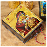 Large Black Wooden Keepsake Box Sweet Kissing Icon