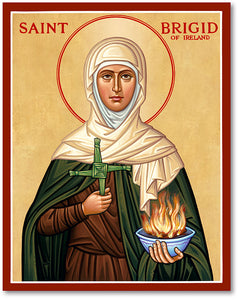 St Brigid Icon Plaque