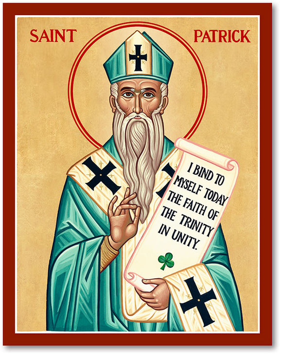 St Patrick Icon Plaque