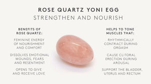 Rose Quartz Crystal Yoni Egg