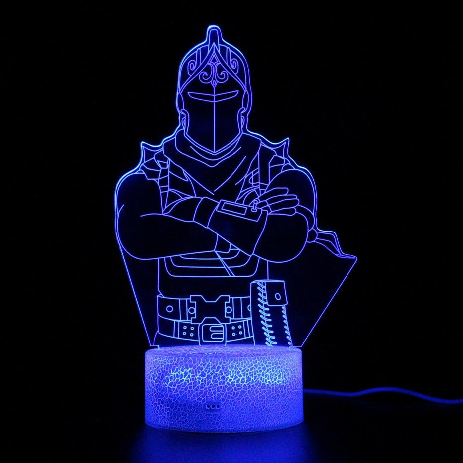 - Fortnite Red Knight LED Lamp With 7 Switchable Colors – Battle