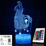 Fortnite Llama Blue LED Lamp