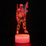Apex Legends Bangalore Red LED Lamp