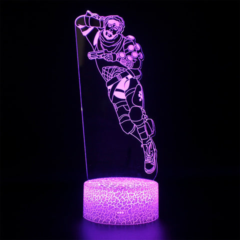 Apex Legends Mirrage Violet LED Lamp