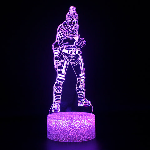 Apex Legends Wraith Violet LED Lamp