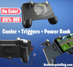 Fortnite / PUBG Smartphone 3in1 Handle with 2 Triggers, Cooling Fan and Power bank