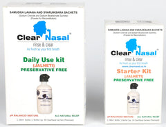 ClearNasal Sinus Infection Treatment kit - 1 Daily Use Kit (90 Day) & 1 Starter Kit (10 Day)