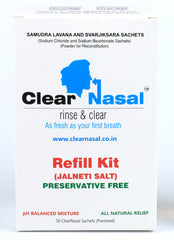 ClearNasal jala neti - Nasal Block Kit for 110 days (1 Starter Kit, 2 Refill Kit)