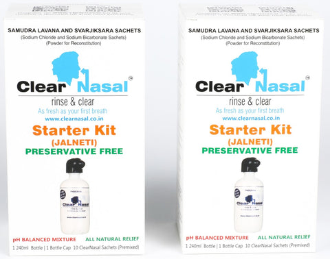 Chronic Sinusitis Treatment for Family - Starter Kit Neti Pot (Pack Of 3 Kits)