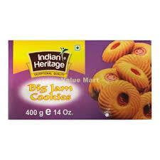 Indian Heritage Big Jam Cookies 400g