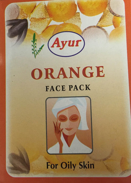 Ayur Orange Face Pack 100g - MandiBazaar