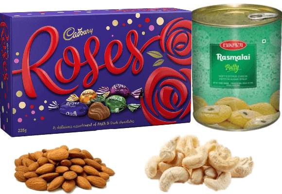 Cadbury Roses, Rasmalai & Dry Fruit Diwali Treat