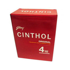 Cinthol Original Deodrant and Complexion Soap 4 Pack