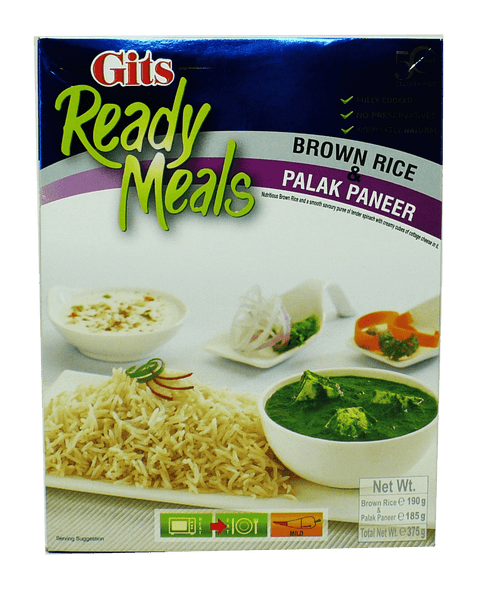 Gits Brown Rice & Palak Paneer Combo 375g