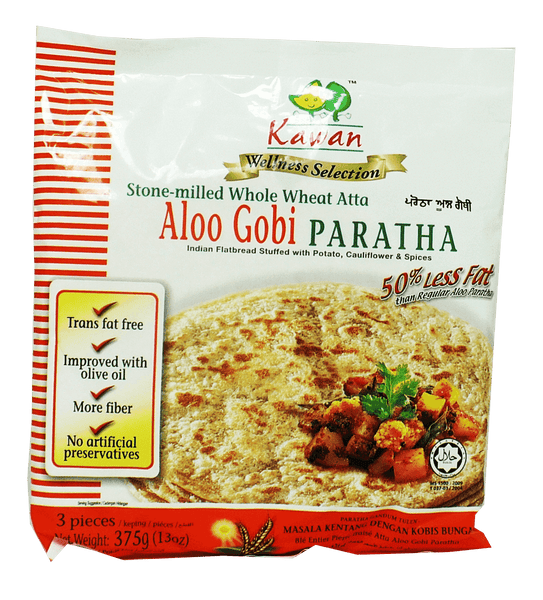 Kawan Whole Wheat Aloo Gobi Paratha 3Pieces